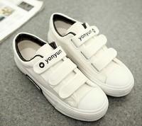2014 New Arrived Brand Design Low Top Woman Canvas Shoes Platform Women's Sneakers Tennis Shoes 3 Color 35- 39Size Velcro Girls