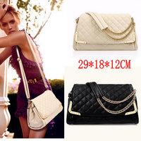Beige+Black 2014 Hot Sale!Free Shipping Women's Handbag Women Leather Handbags Women Messenger Bags Women Shoulder Bag Wholesale