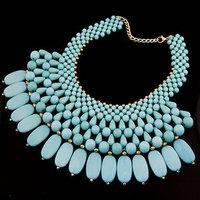 2014 New Arrival fashion acrylic choker Necklace statement jewelry women choker tassel necklace 2014