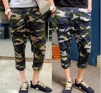 2014 new hip hop leisure print camouflage sport sweatpants mens military cargo jogging army pants Casual Harem Baggy Pants