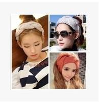 5pcs/lot Free shipping  fashion flowers braid knitting hairband Hair Accessories