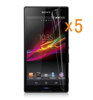 Retail Pack 5x Glossy Ultra Clear LCD Screen Protector Guard Cover Film Shield for Sony Xperia C CN3 S39h C2305 C2304