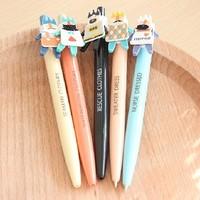 free shipping Zakka ballpoint pen chenguang 0.5mm5 mg blue black m&g cartoon vintage