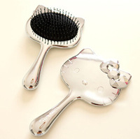 Limited quantity cute hello kitty gasbag comb carbon hair brush free shipping