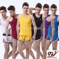 Free Shipping !Wholesale Men's Vest/Men's Sprot shirt Easy to dry  Men Tank Tops/Suit vest Sexy Undershirt for Men WJ4004