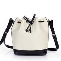 NEW 2014 Genuine Leather Crossbody Bags for Women Messenger Bags Cowhide Bucket Bag Sac Shoulder Bag Women Leather Handbags