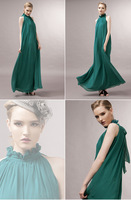 2014 elegant   High quantity Cannes  women  halter chiffon Celebrity  Beach Dresses a1002