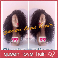 Best quality!Brazilian virgin hair kinky curly lace front wigs human hair 150 density 12-26 inch kinky curly wig for black women