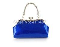 Stylish Kiss Lock Patent Leather Handbags,evening shiny clutches,elegant handbags