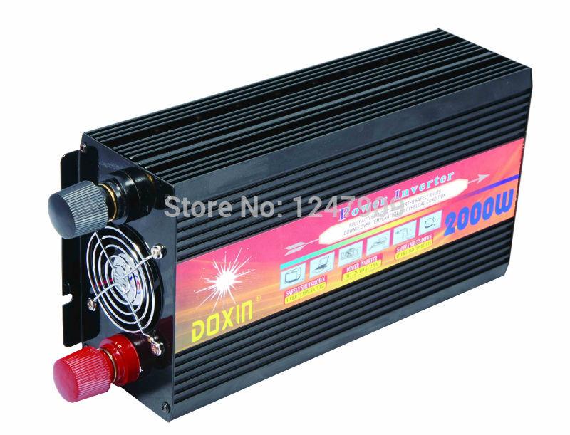 High capacity 12V 110V Power Inverter 2000W Modified Sine Wave Inverter For Solar Home System(China (Mainland))