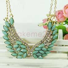 Spangle Rhinestone Angel Wings Pendant Necklace Fantasy Choker Collar KK#Y