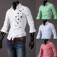2014 new fashion printed mens casual dress shirts camisa roupas masculina camisetas hombre high quality slim fit shirt for men