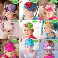 10pcs/lot-- Beautiful Feather Headband hairband Baby Girls headbands/' hair accessories Baby Christmas gift