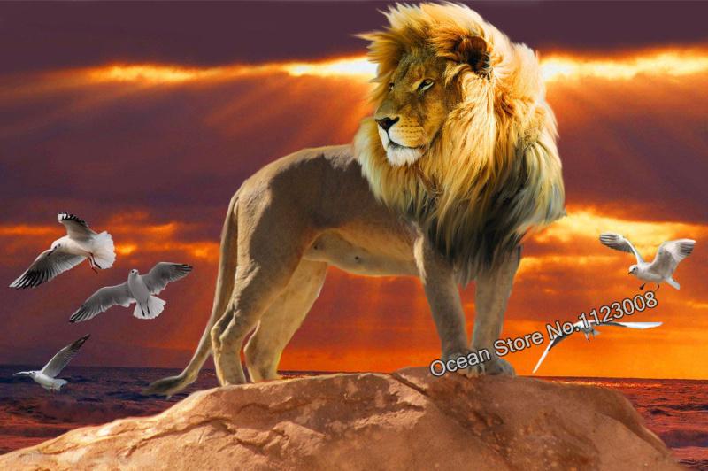 Diy алмазная львов на пляж