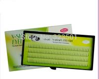 Top quality Eyelash Extension natural 2 flare silk v-shape eyelashes for make up salon professional individual false eyelashes