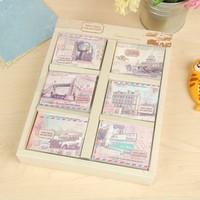 free shipping Zakka korea stationery mini notebook notepad Ancient city b9074 vintage