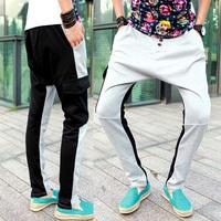 2014 New mens loose pants hip hop sports drop crotch harem pants sweatpants outdoors trousers for men moletom masculino homens