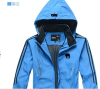 The new youth men's leisure sports suits spring students running clothing cardigan coat of big yards