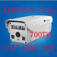 "4140+673 Chip 6 Array LED IR 80M 1/3"" SONY CCD HD 700TVL High Resolution 4/6/8/12/16mm Lens Weatherproof Outdoor IR CCTV Camera"