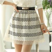 Spring women's lace short skirt bust skirt plus size high waist organza puff skirt a-line skirt