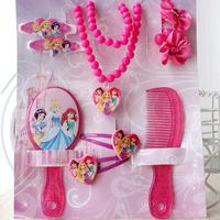brand children brand princess necklaces hair clips rope accessories set baby girls jewelry set Children's gift
