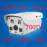 "4140+673 Chip 1/3"" SONY CCD HD 700TVL High Resolution 4 Array LED IR 50M 4/6/8/12/16mm Lens Weatherproof Outdoor IR CCTV Camera"