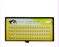 Top quality Nature Individual Eyelash Extension natural 3 flare silk lash make up salon individual false eyelashes professional