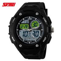 Water Shock Resistant Time Zone Round Dial Fashion G wristwatches Brand Skmei Military Army Sports Watches Men Luxury Relogio