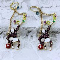 $15 Free shipping 2014 new fashion Fashion bj earrings long arm monkey 140324 gold earrings earrings for women gifts