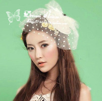 Dots bridal hats wedding hair accessories