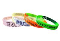100pcs/lot Hot WWJD silicone wristband jesus silicon bracelet Fashion Christ bangles Bezaleel Gift wrist band wholesale