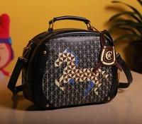 Handbags,embroidery sweet cartoon women's vintage handbag shoulder bag,H207 ,Free Shipping