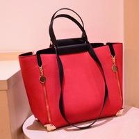 handbags Korean version of four corners zipper bag four rivets handbag women's Messenger bag,1103