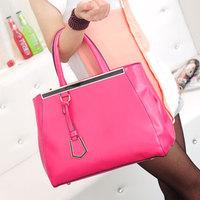 Handbags,Fashion metal pendant overlock decoration women's handbag formal one shoulder bag casual handbag h294,Free Shipping