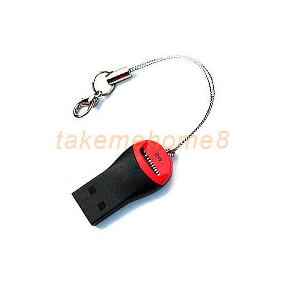Mini Micro USB 2.0 SD TFlash TF M2 Memory Reader Card WORD(China (Mainland))