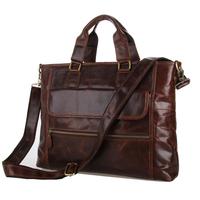 JMD 2014 NEW Discount Genuine Leather Handbag Messenger Bag Commercial Briefcase vintage men messenger bags business bag 7212