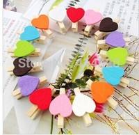 1000Pcs/lot  3*2Cm Hand Made Wood  Colorful  Diy  Memo Clips ,Home Decor Party Decoration  Children Diy Materials