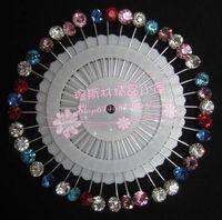 Muslim Hijab Hat Scarf Pin Plate Needle Rhinestone Scarf Pin Clip Women Accessories Gift