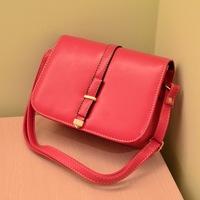 leather trim cover stereotypes Messenger bag Korean version of the influx of black side leisure bag