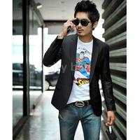 Men's Casual Slim Fit Long Sleeve Formal Blazers Black One Button Blazer Size S/M/L/XL/XXL/XXXL