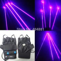 405nm violet laser gloves with 4pcs 100mW violet laser beams  battery adapter battery