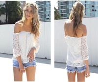 Free shipping New 2014 Women Sexy Lace Strapless tops Woman Slim lace bottoming shirt Women shirt M L XL