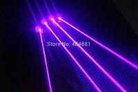 405nm violet laser gloves with 5pcs 100mW violet laser beams  battery adapter battery