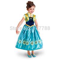 New 2014 frozen dress, vestidos de menina, elsa princess summer dress 2014 Free Shipping
