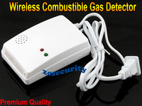 CE/Rohs Approved Wireless gas leak detector combustible gas sensor with 315MHZ/433MHZ + free shipping