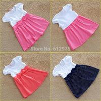 Baby Girl Polka Dot Vest Dress Infant Girl Jumper Skirt Children Infant Clothing Kids Wear Suit Cotton