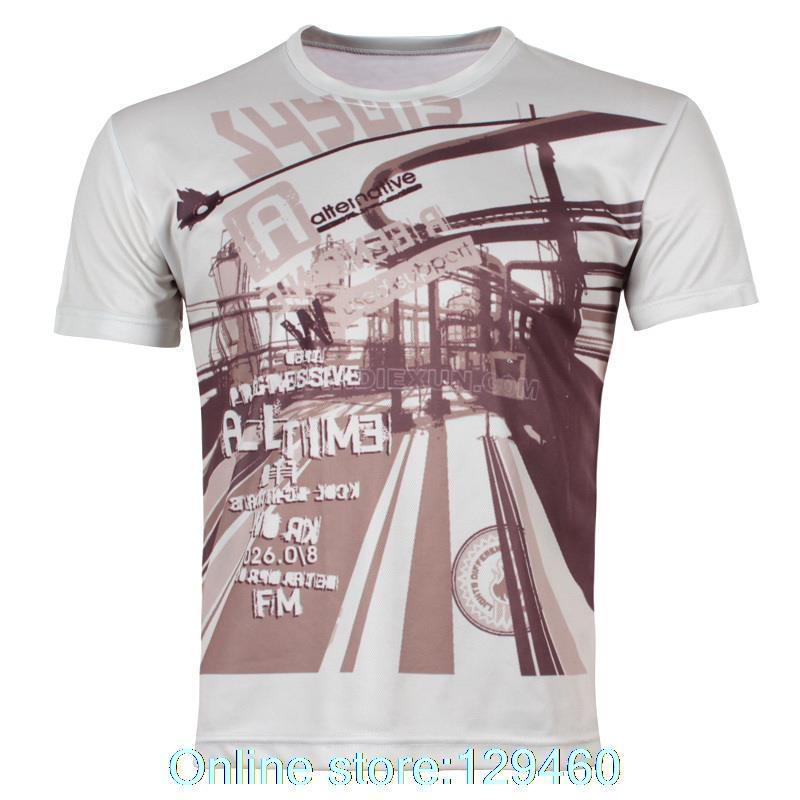 Men's summer fashion clothes city life personality 3d t shirts loose big yards Men's solid color short sleeve T-shirt(China (Mainland))