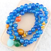 DIY Original high quality jewelry natural beautiful blue crystal bracelet  female gift  Pulseras Pulseiras joyas bijoux