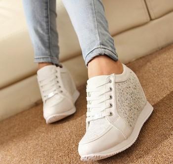 2014 Женщины Hidden Wedge Heels shoes Модный Женщины's Elevator ankle boots causal ...