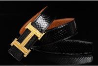 New Fashion Belt Men's Classic Snakeskin Leather Man Strap Pants Garments Distinguished Luxury Double Diamond Steel Belt Buckle